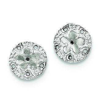 Sterling Silver Solid Polished Post Earrings Sand Dollar Mini Children Earrings - 1.3 Grams