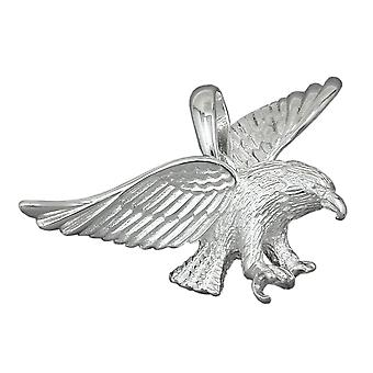 Eagle pendant silver Eagle pendant 925 sterling silver solid 40 mm wide