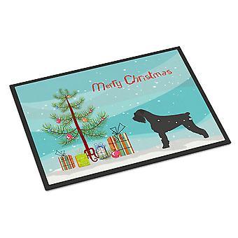 Riesenschnauzer Merry Christmas Tree Indoor oder Outdoor Mat 24 x 36