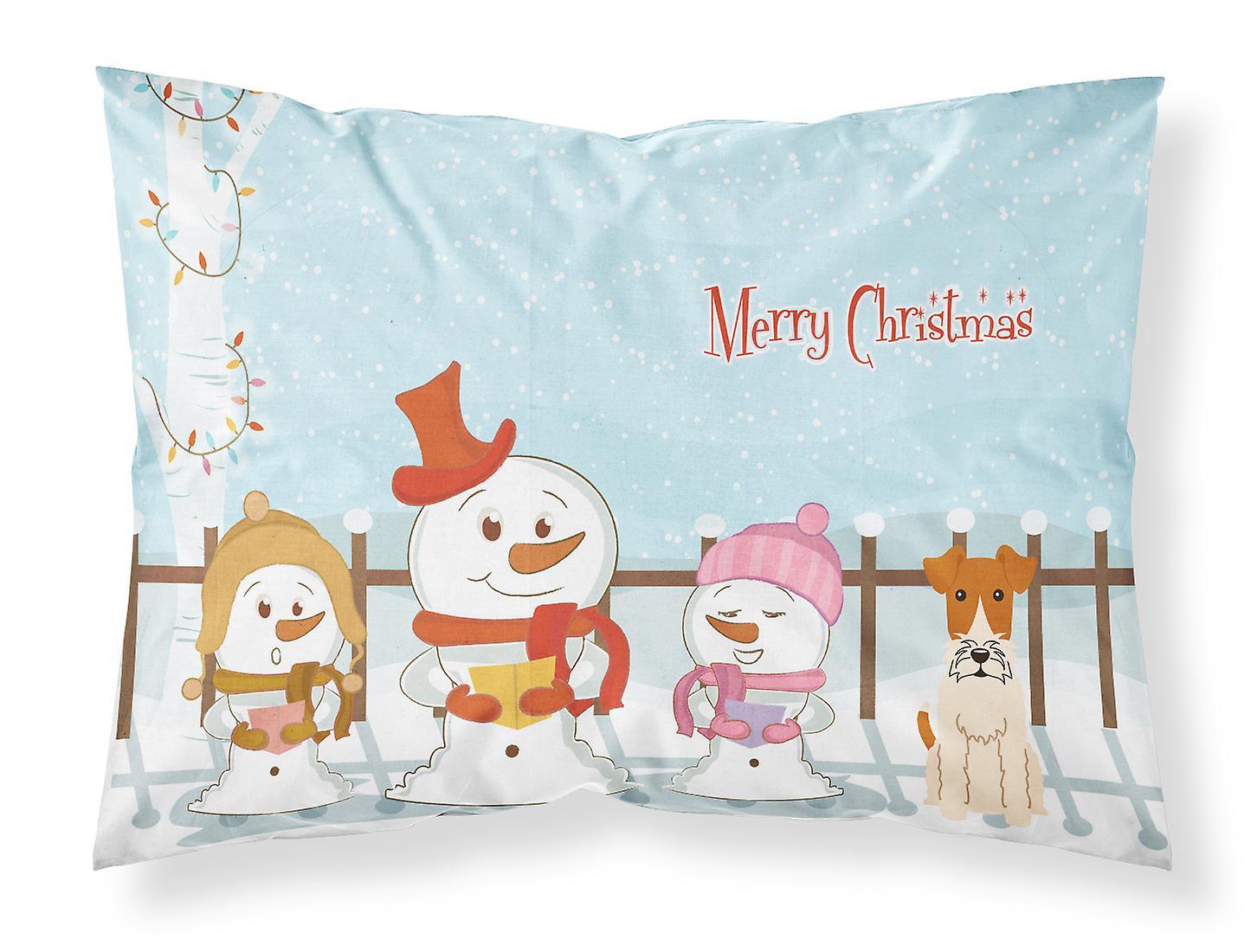 Chanteurs Standard Joyeux Fox Terrier D'oreiller Noël Wire Taie De Tissu shQCBdtrxo