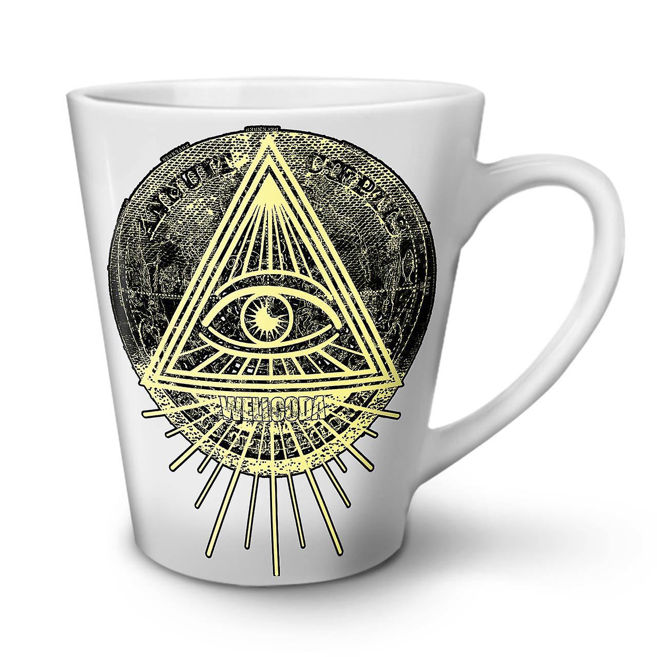 Coffee Mug New White Triangle Tea 12 OzWellcoda Ceramic Latte UpGMVLzqS