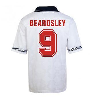 Score trekke England World Cup 1990 hjem skjorte (Beardsley 9)