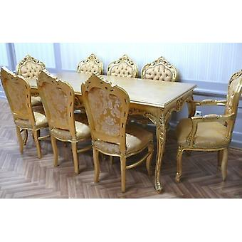 baroque dining room table armchair carved gold antique style  AlEs0690Go
