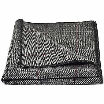 Luxe visgraat Pewter Grey Pocket Square, zakdoek