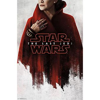 Star Wars Jedi ostatni - czerwony Leia Poster Print
