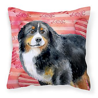 Bernese Mountain Dog Love Fabric Decorative Pillow