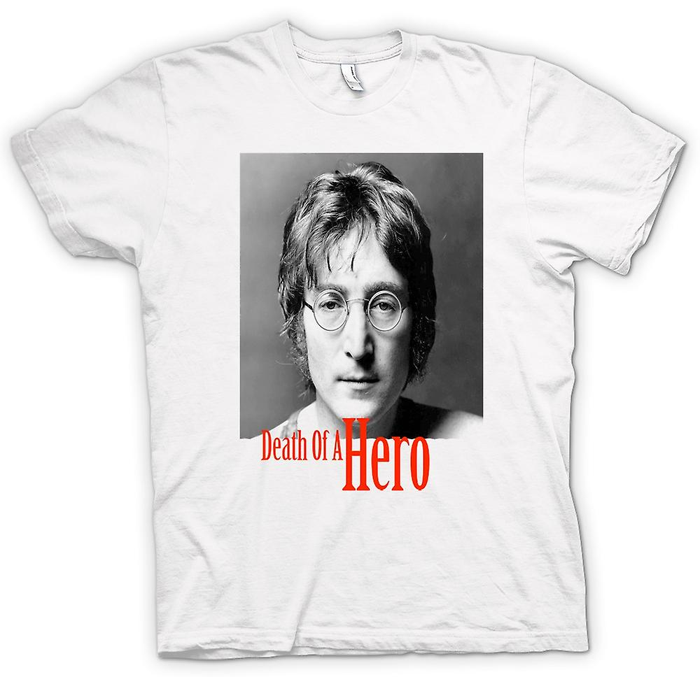 Womens T-shirt - John Lennon - Death Of Hero