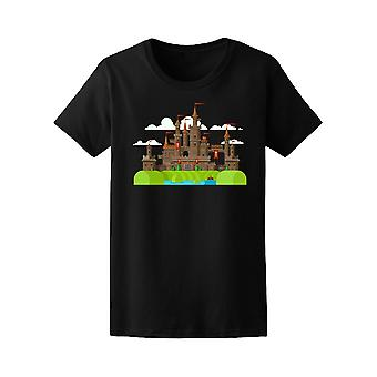 Medieval Castle With Clouds Tee Women's -Image by Shutterstock