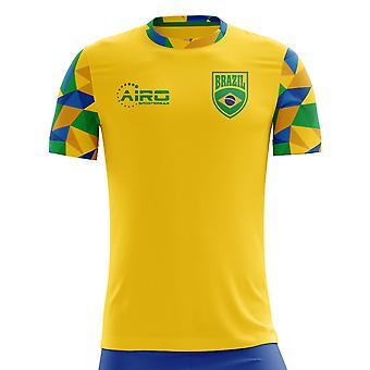 2018-2019 Brasilien Hem Concept fotbollströja (Kids)