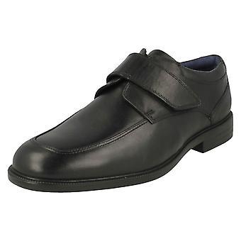 Mens Padders Formal Hook & Loop Fastening Shoes Brent - Black Leather - UK Size 10.5G - EU Size 45 - US Size 11.5