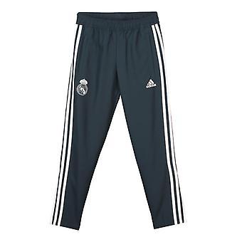 2018-2019 real Madrid Adidas vevd bukser (mørk grå) - barn