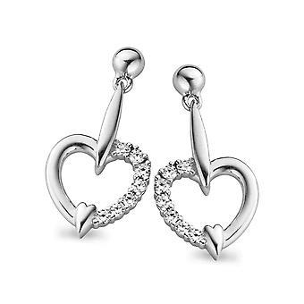 Corazón de circonio de Orphelia plata 925 pendiente ZO-5106