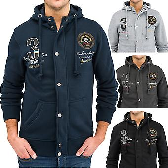 Men's Hooded Jacket Lined with Hood ANCHOR Sweat Jacket Navy Hoodie