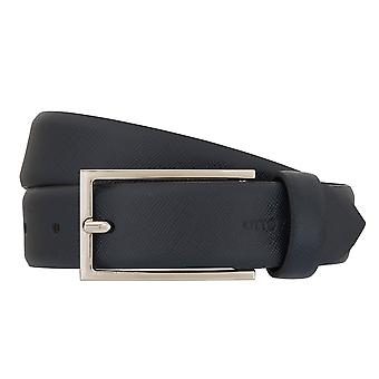 OTTO KERN belts men's belts leather belt Navy/Blue 7011