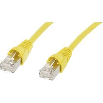 Telegärtner RJ45 Networks Cable CAT 5e F/UTP 15 m Yellow Flame-retardant, incl. detent