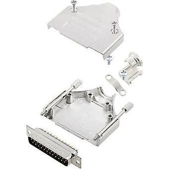 encitech MHDM-25-DMP-K D-SUB pin strip set 180 ° Number of pins: 25 Solder bucket 1 Set