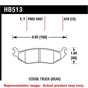 Hawk 'Performance Street' Brake Pads HB513F.610 Fits:CHRYSLER 2007 - 2009 ASPEN