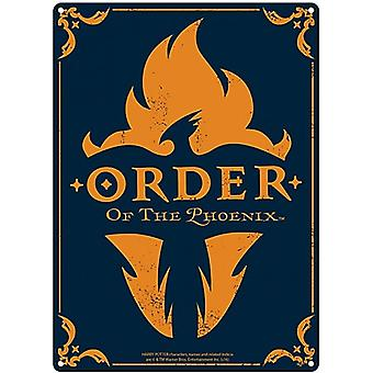 Harry Potter Order Of The Phoenix Metal Sign 400Mm X 300Mm