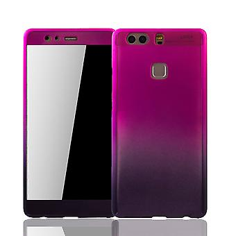Huawei P9 plus cell phone case protective case cover tank protection glass pink / violet