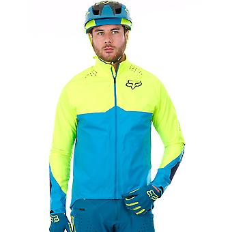Fox Blue-Yellow 2017 Downpour Light MTB Jacket
