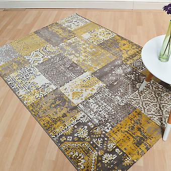 Revive Rugs Re06 In Ochre
