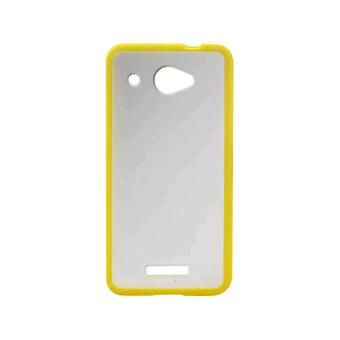 Reiko - PC/TPU slanke Protector Cover voor HTC Droid DNA / HTC DLX - geel