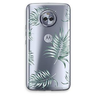 Motorola Moto X4 Transparent Case - Simple leaves