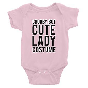 Mollig, aber süße Lady Kostüm Baby Bodysuit Geschenk Pink