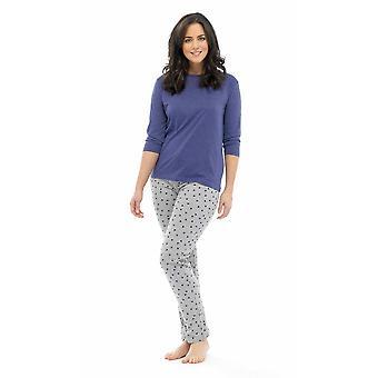 Дамы том Фрэнкс Star печать Ткани поликоттон длинные Пижамная пижамы Lounge носить пижамы