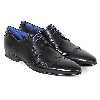 Ted Baker Men's Ollivur Leather Lace Up Formal Brogue Shoe Black