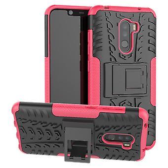 For Xiaomi POCO Pocofone F1 hybrid sag 2 stykke SWL udendørs pink pose tilfælde dække beskyttelse