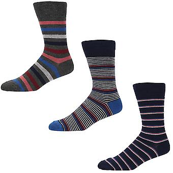 Designer 3 Pack Gift Set Mens Savile Row Socks Marcus