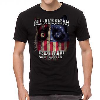 Grumpy Cat All American Grump Men's Black Funny T-shirt