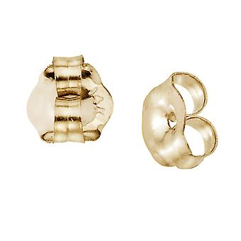14k Yellow Gold 6 mm Replacement Earring Backs (1 Pair)
