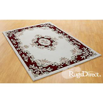 Royal Indian Cream-Red The design is in shades of red, beige and green on a cream background Rectangle Rugs Traditional Rugs