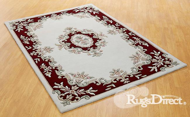 Royal Indian Cream-Red The design is in shades of red, beige and green on a cream background Half Moon Rugs Traditional Rugs