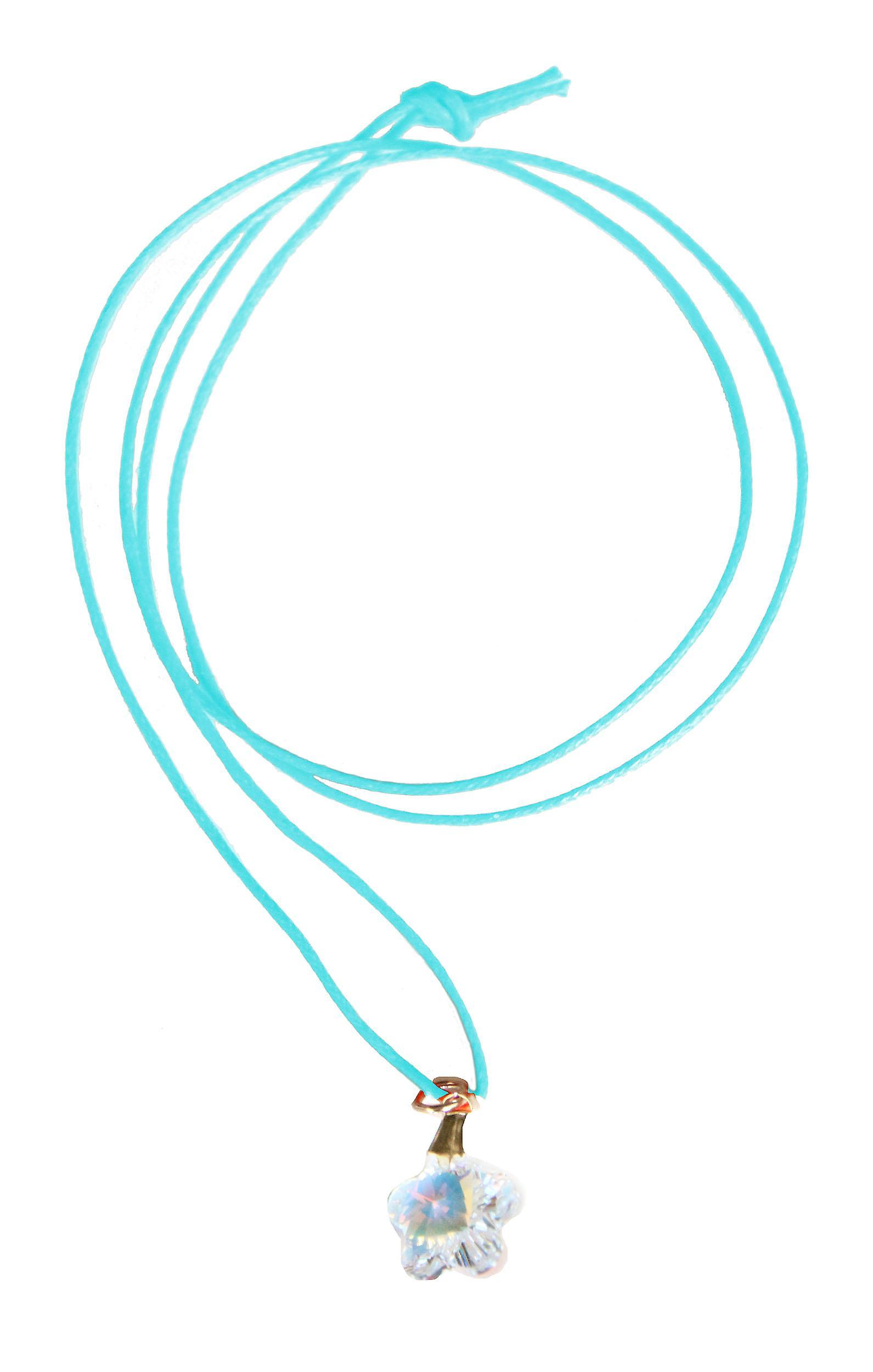 Waooh - Bijoux - Swarovski / Pendentif fleur nacré reflet bleu