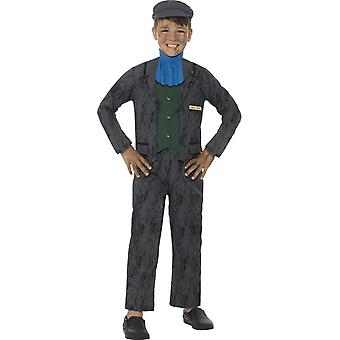 Horrible Histories Miner Costume, Grey, with Top, Trousers, Cravat & Hat