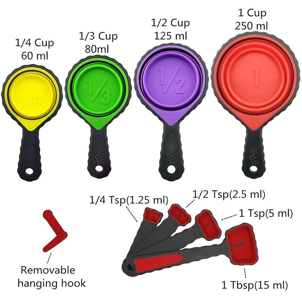 8 Pcs Measuring Cup Set