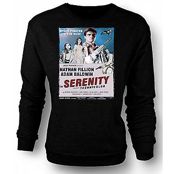 Mens Sweatshirt Serenity Space Western - B Movie