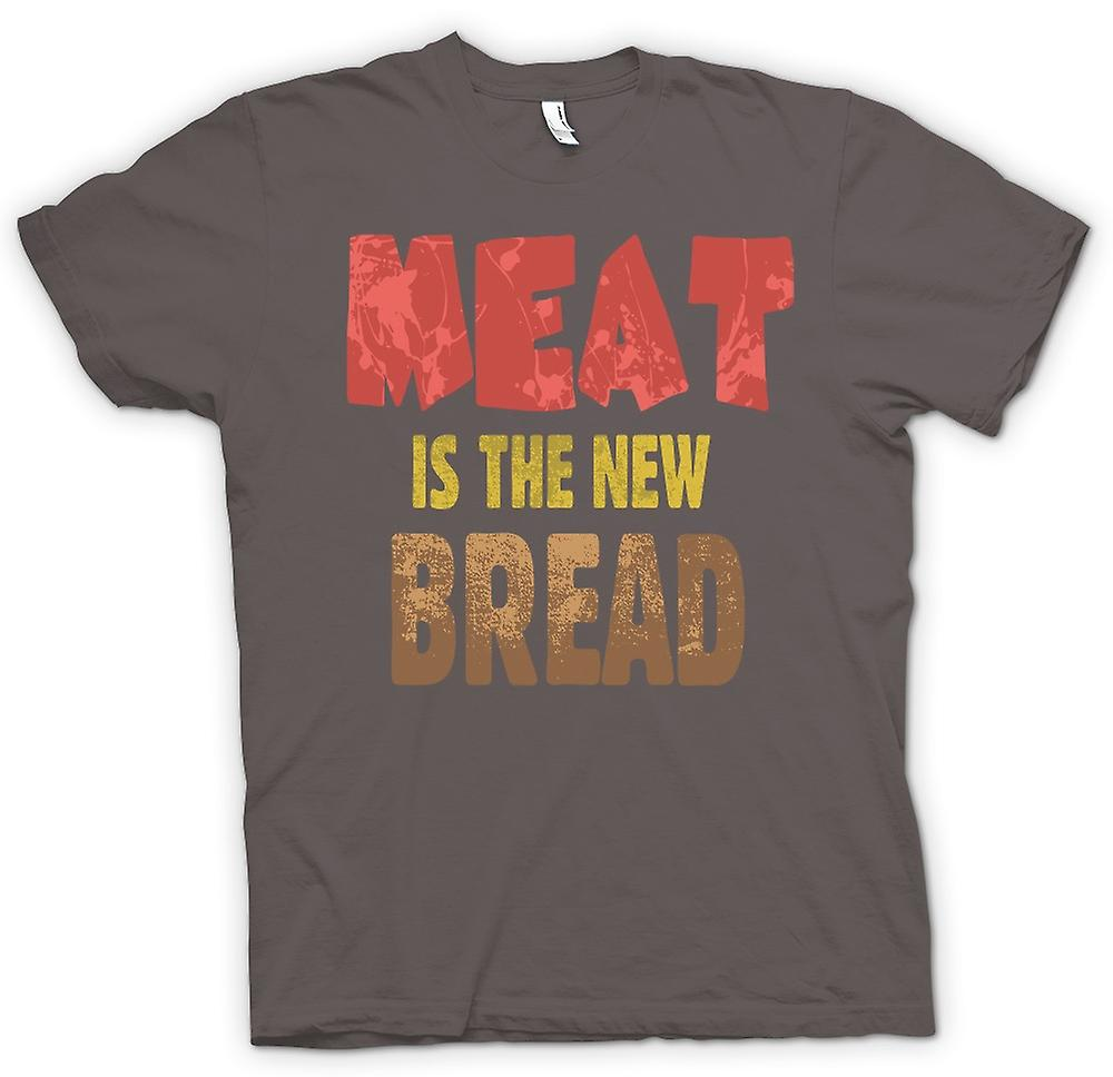 Womens T-shirt - Meat Is The New Bread - Funny