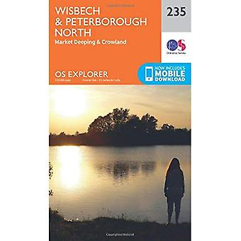 OS Explorer Map (235) Wisbech and Peterborough North