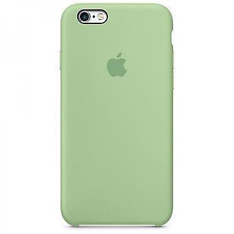 Embalaje original, funda de silicona Apple para iPhone 6 6 S casa de la moneda verde