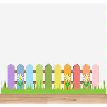 フルカラー保育園フェンス草の花の壁のステッカー