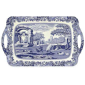 Pimpernel Blue Italian Large Tray with Handles, 48cm x 29.5cm