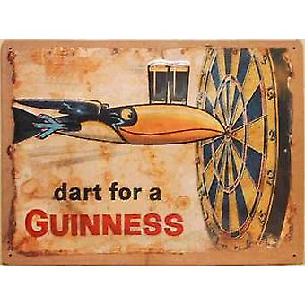 Guinness Dart for a.... large embossed steel sign