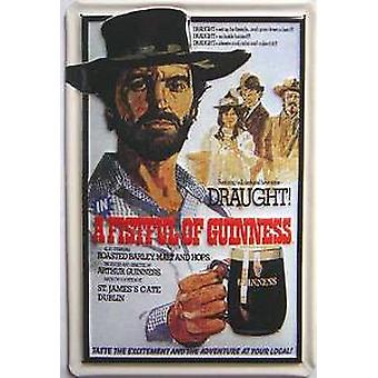 Guinness  - A Fistful of Guinness embossed steel sign