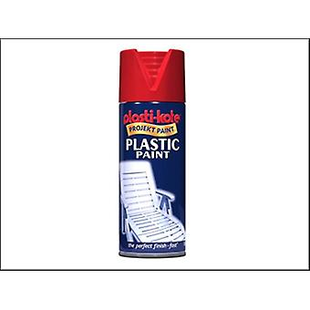 PLASTIC PAINT RED GLOSS 400 ML