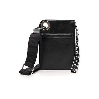 Bolsa de ombro poliuretano preto de Givenchy