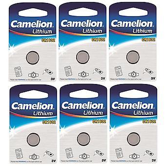 6-pack Camelion batteri CR1632 Lithium 3V